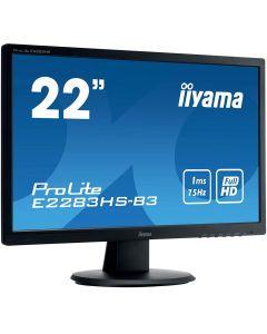 "21.5"" IIyama ProLite, TN Panel, 1920x1080 Full HD, 75Hz, 16:9, 1ms, 80M:1, D.Port/HDMI/VGA - E2283HS-B3"