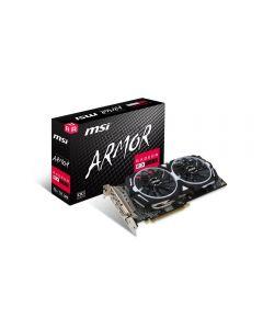 8GB MSI Radeon RX 580 ARMOR OC - Slightly damaged Box, 14nm Polaris, 2304 Streams, 1366MHz Boost, 8000MHz GDDR5, DP/HDMI/DVI-D - RADEON RX 580 ARMOR 8G OC