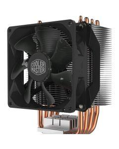 Cooler Master Hyper H412R Compact Single Tower CPU Cooler, 4 Heatpipes, 92mm PWM Fan, Intel/AMD, 2066/1151/AM4 - RR-H412-20PK-R2