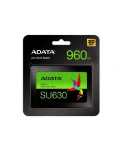 """ADATA 960GB Ultimate SU630 SSD, 2.5"""", SATA3, 7mm , 3D QLC NAND, R/W 520/450 MB/s, 65K IOPS - ASU630SS-960GQ-R"""