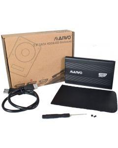 "Maiwo USB 3.0 2.5"" External Hard Drive Enclosure - Black - K2501AU3S"