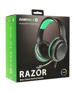 GameMax Razor RGB Gaming Headset and Mic with 5.1 Surround Sound - 5055492409027 - GMX-HDSET-RAZOR