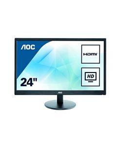AOC 23.6'' E2470SWH 1mS , 60Hz , VGA/HDMI/DVI LED Monitor , Built In Spks