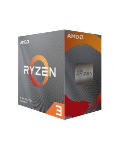 AMD Ryzen 3 3100, AM4, Zen 2, 4 Core/8 Thread, 3.6GHz/3.9GHz Turbo, 18MB Cache, PCIe 4.0, 65W, Retail Box with Cooler - 100-100000284MPK