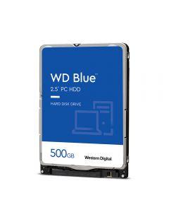 """WD Blue 500GB internal 2.5"""" HDD, SATA 6Gb/s - 5400 rpm, 16MB Cache, 7mm - WD5000LPCX"""
