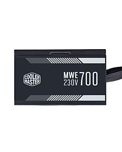 700W Cooler Master MWE 700 White V2, Fully Wired, 80+ White, Single Rail, 58A, 1x120mm Fan - MPE-7001-ACABW-UK