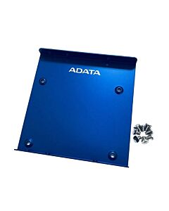 """Adata SSD Mounting Kit, Frame to Fit 2.5"""" SSD or HDD into a 3.5"""" Drive Bay, Blue Metal - 62611004"""