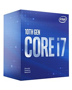 Intel Core i7 10700F, s1200, Comet Lake, 8 Cores/16 Threads, 2.9GHz/4.8GHz(Turbo), 16MB Cache, 65W, Retail Box with Stock Cooler - BX8070110700F