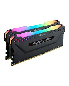 32GB (2x16GB) Corsair DDR4 Vengeance RGB PRO Black, PC4-25600 (3200), Non-ECC Unbuff, CAS 16-18-18-36, RGB LED, 1.35V - CMW32GX4M2C3200C16
