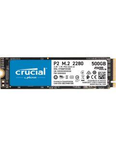 500GbB Crucial P2 M.2 (22x80) PCIe 3.0 (x4) NVMe SSD, 3D NAND, Read 2300MB/s, Write 940MB/s, 95K/215K IOPS - CT500P2SSD8