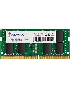 ADATA Premier 8GB DDR4 3200MHz (PC4-25600), CL22, SODIMM Memory, 260pin, 1024x8, 1.2V - AD4S320088G22-SGN