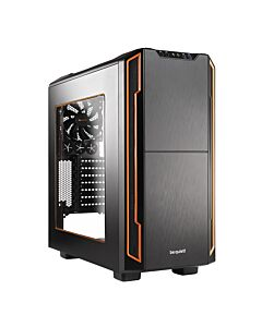 Be Quiet! Silent Base 600 Gaming Case with Window, ATX, No PSU, Tool-less, 2 x Pure Wings 2 Fans, Orange Trim - BGW05
