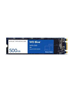 500GB WD Blue SSD, M.2 2280, SATA III - 6Gb/s, 1.5mm, Read 545MB/s, Write 525MB/s, 100K/80K IOPS - WDS500G1B0B