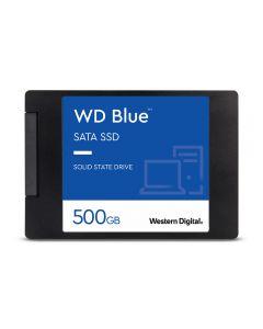 "500GB WD Blue SSD, 2.5"" SSD, SATA III - 6Gb/s, 7mm, Read 560MB/s, Write 530MB/s, 95K/84K IOPS - WDS500G2B0A"