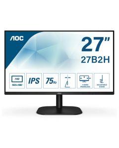 "AOC 27B2H 27"" Widescreen 75Hz WLED Black (1920x1080/4ms/VGA/HDMI/Spks)"