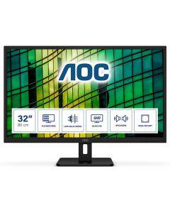 """AOC Q32E2N 31.5"""" IPS, QHD 2560x1440, 4ms, Adaptive-Sync 75Hz, HDMI/D.Port, Spkrs"""