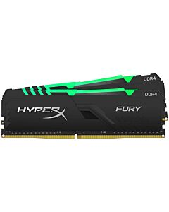 Kingston HyperX Fury RGB 32GB Black Heatsink (2x16GB) DDR4 3200MHz DIMM System Memory - HX432C16FB3AK2/32