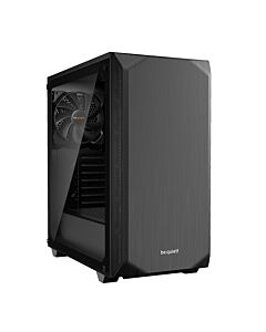 Be Quiet! Pure Base 500 Gaming Case with Window, ATX, No PSU, 2 x Pure Wings 2 Fans, PSU Shroud, Black - BGW34