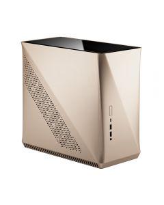 Fractal Design Era ITX, Gold, with Tempered Glass or Mesh Top Panel, 80mm Fan, USB 3.1 Gen2 Type-C, Mini-ITX - FD-CA-ERA-ITX-CHP