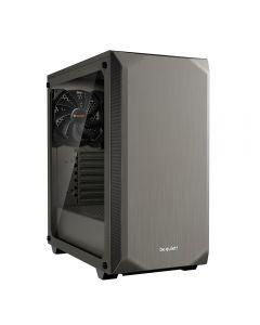 Be Quiet! Pure Base 500 Gaming Case with Window, ATX, No PSU, 2 x Pure Wings 2 Fans, PSU Shroud, Metallic Grey - BGW36