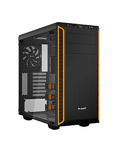 Be Quiet! Pure Base 600 Gaming Case with Window, ATX, No PSU, 2 x Pure Wings 2 Fans, Orange Trim - BGW20