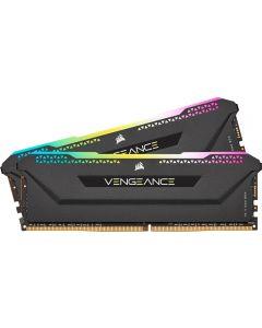 16GB (2x8GB) Corsair DDR4 Vengeance RGB PRO SL Black, PC4-25600 (3200), Non-ECC Unbuff, CAS 16, Ryzen Optized, 1.35V - CMH16GX4M2Z3200C16