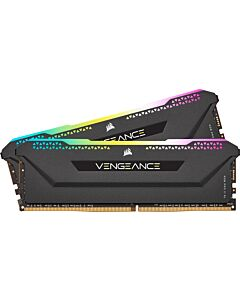 16GB (2x8GB) Corsair DDR4 Vengeance RGB PRO SL Black, PC4-25600 (3200), Non-ECC Unbuff, CAS 16, Intel XMP/Ryzen Optized, 1.35V - CMH16GX4MEZ3200C16