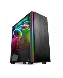 CIT Celsius, Midi ATX Refurbished RGB Gaming PC, Intel Core i7 3770, Quad Core, 3.9GHz*, 16GB, 480GB SSD, 2TB, W10, 4GB GTX 1650