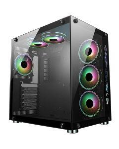CiT Jupiter Glass Gaming Case 6x ARGB Fans Hub - 5055492409621