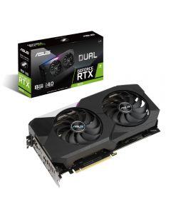 ASUS GeForce RTX 3070 Dual with Ray Tracing, 8GB GDDR6(14000Mhz - 256bit), 5888 Core, 1500MHz GPU, 1755MHz Boost - DUAL-RTX3070-8G-V2 (LHR) - 90YV0FQD-M0NA00